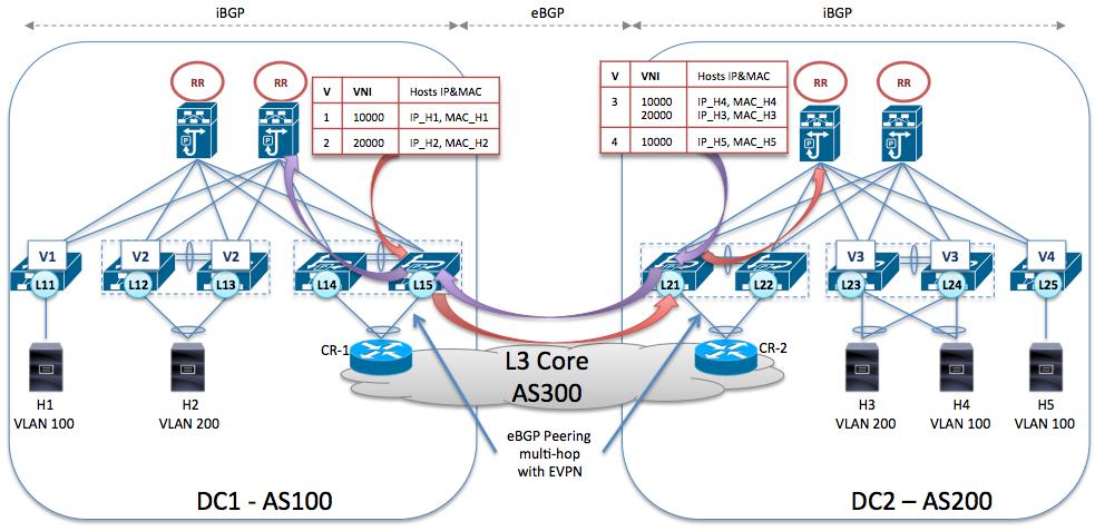 eBGP peering from the Border-Leaf