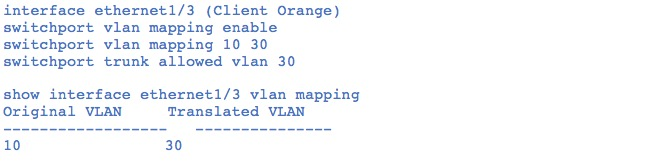 Figure 7: interface-vlan-mapping-per-port-vlan-translation-for-native-c-vlan