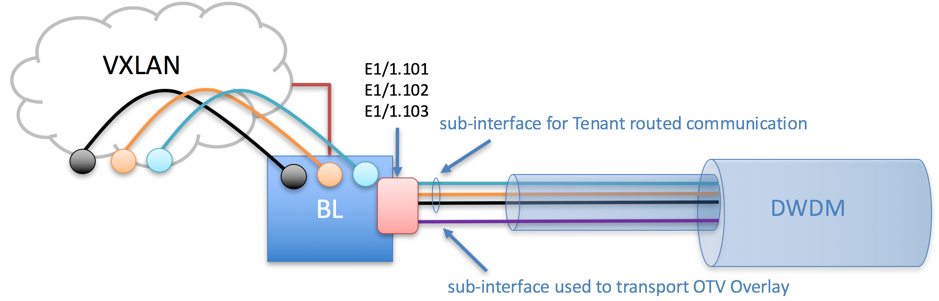 Figure 2- Layer 2 and Layer 3 segmented across a DWDM network